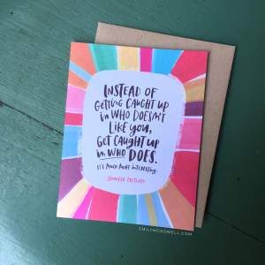 It's a huge honor to have another card up at Emily McDowell Studio. Click to order.