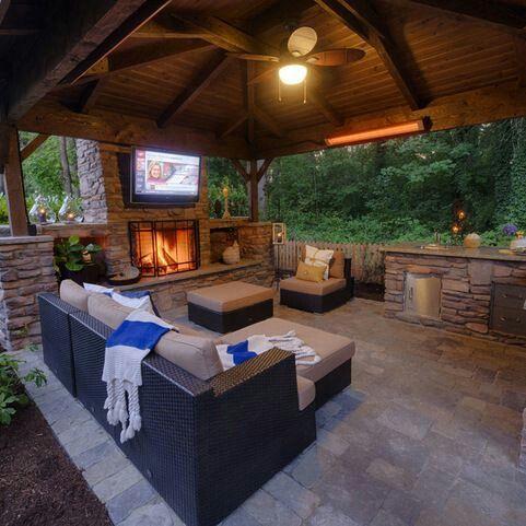 cozy outdoor entertainment area