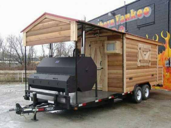 bbq trailer with shack