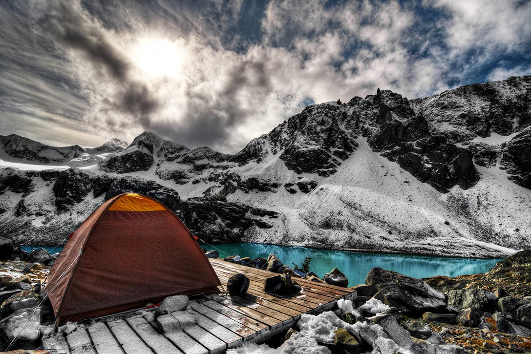 high mountain camping