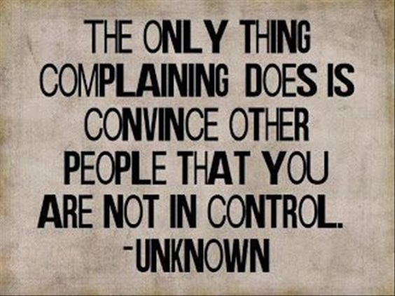 not in control