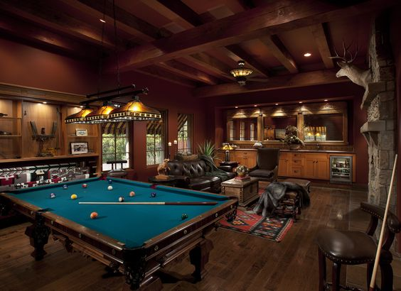 billiards room for men