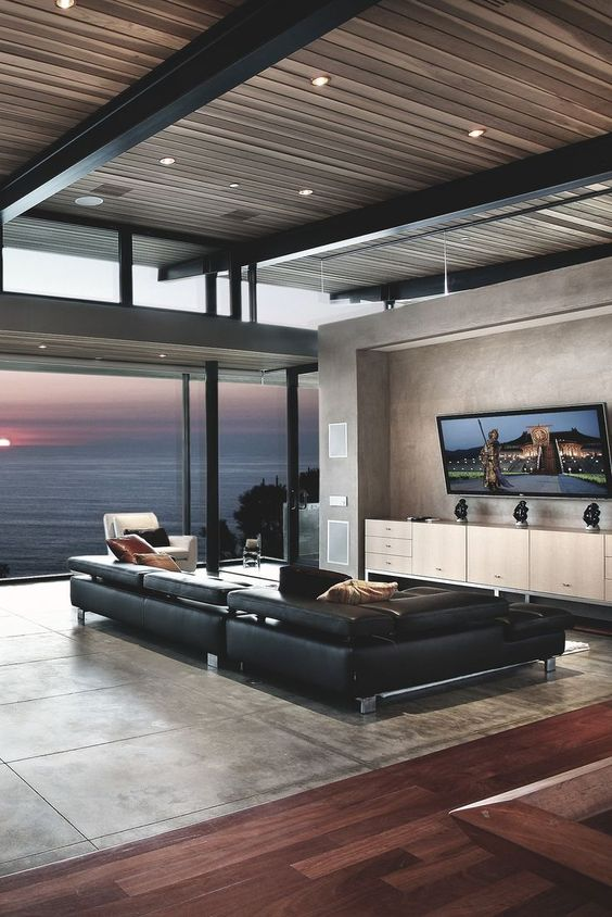 modern manly home interior