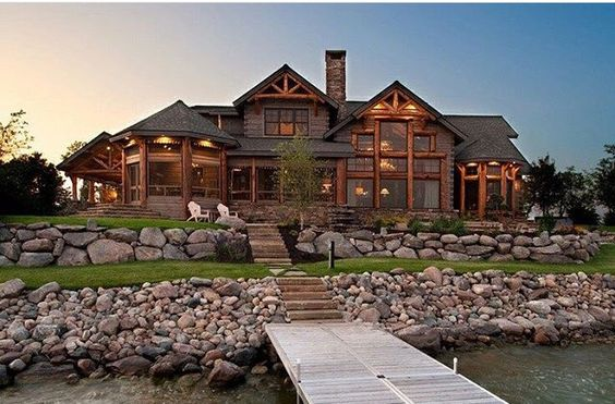 large manly rustic home