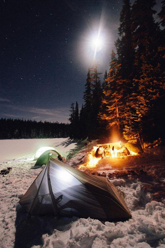 extreme winter campsite