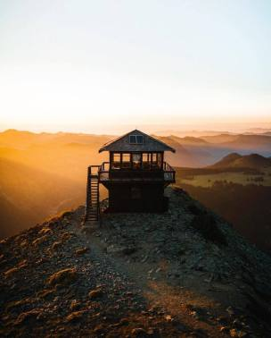 view from a mountain lookout