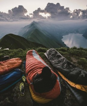 waking up on top of the world