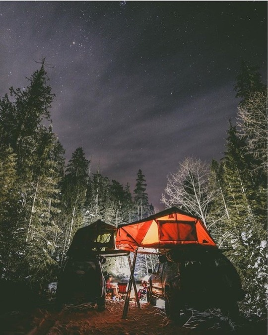 camping with rooftop tents