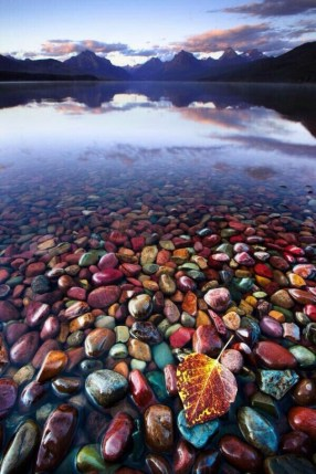 colorful river rocks