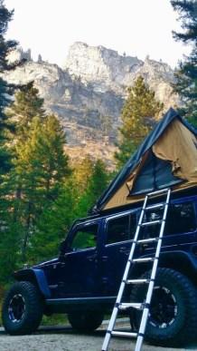 jeep camping at Yosemite