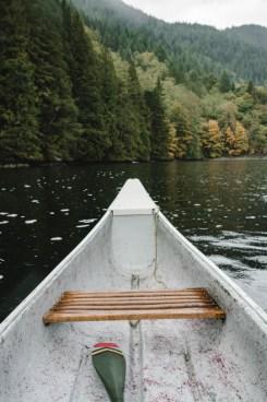 late summer canoe trip on lake