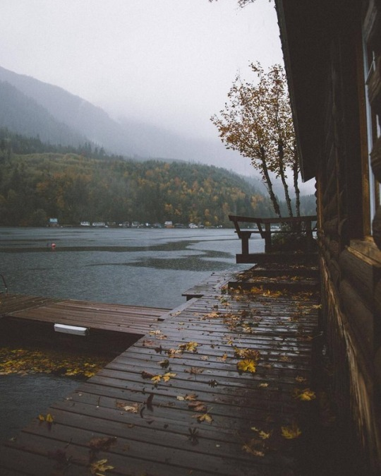 rainy day on the lake