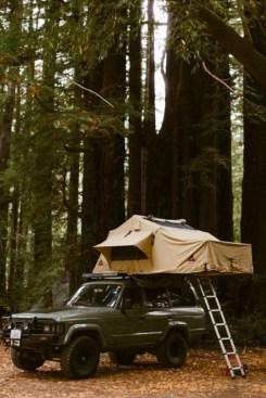 rooftop truck camping
