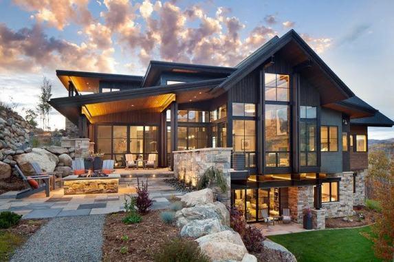 tri level rustic home