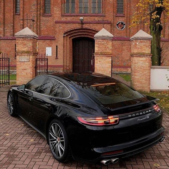 black four door porsche