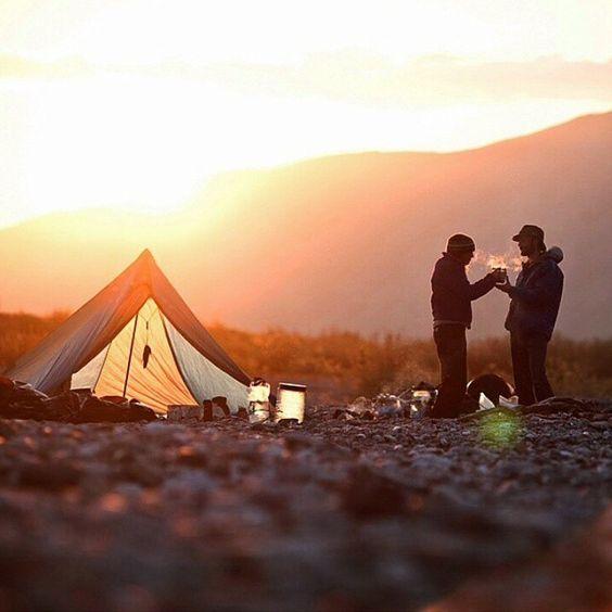 chilly sunrise campsite