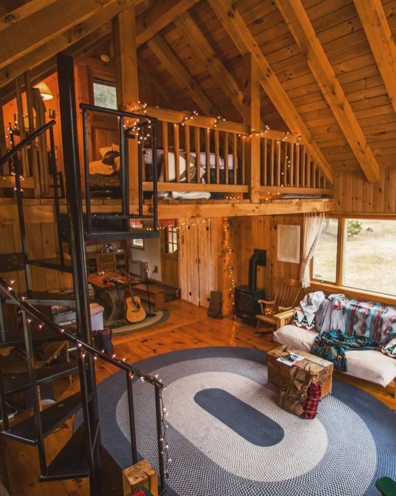 cozy cabin interior