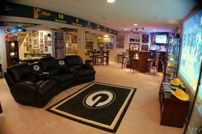 green bay packers man cave