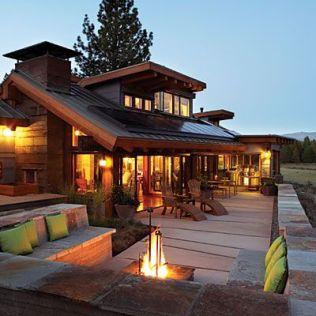 modern yet rustic home