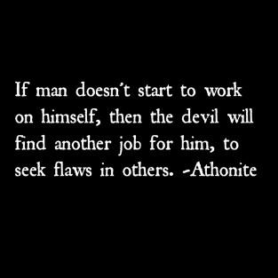 work on himself
