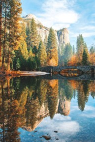 yosemite bridge in fall