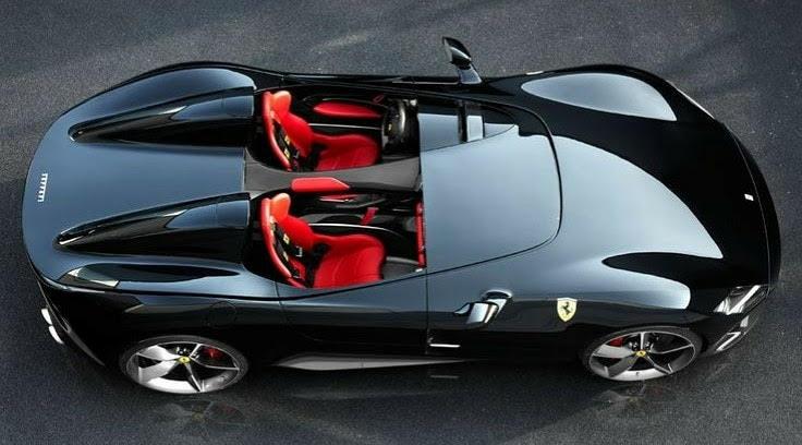 black convertible ferrari