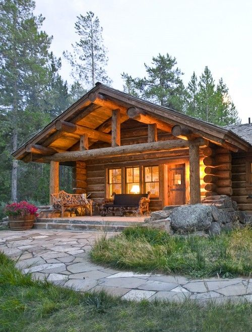 perfect little log cabin