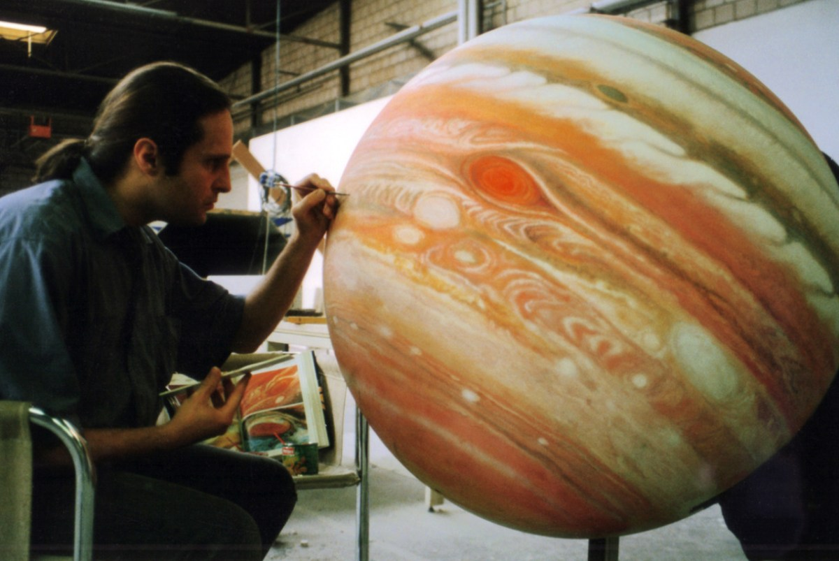 artist painting planet
