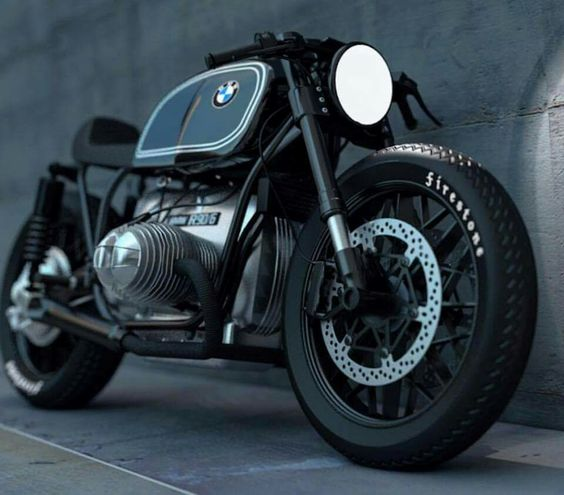 sleek bmw motorcycle