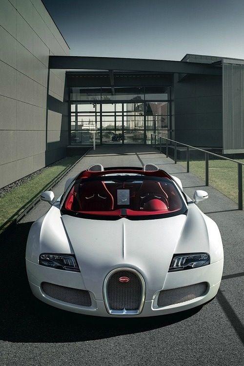 white bugatti