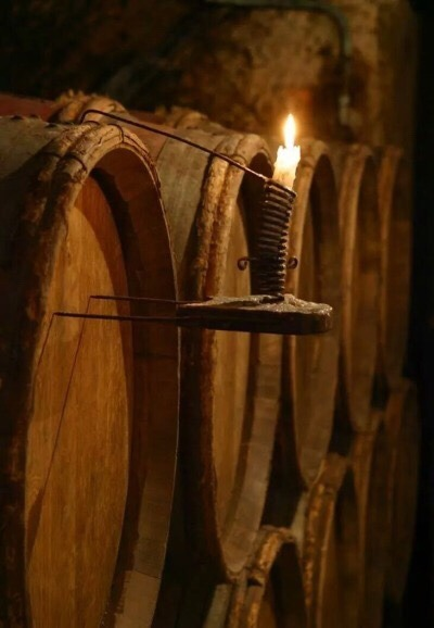 old oak barrels