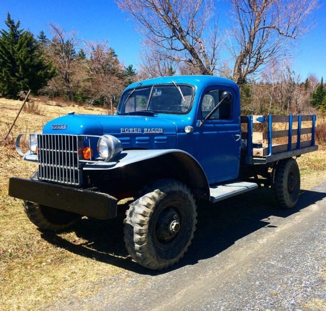 blue power wagon
