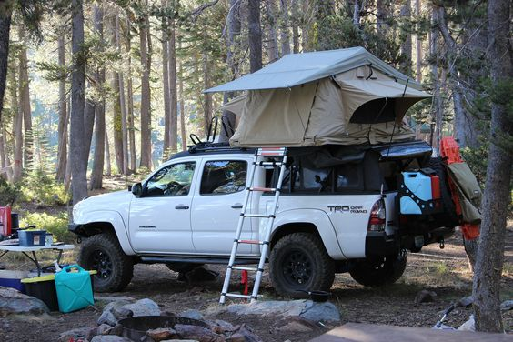 truck tent with ladder