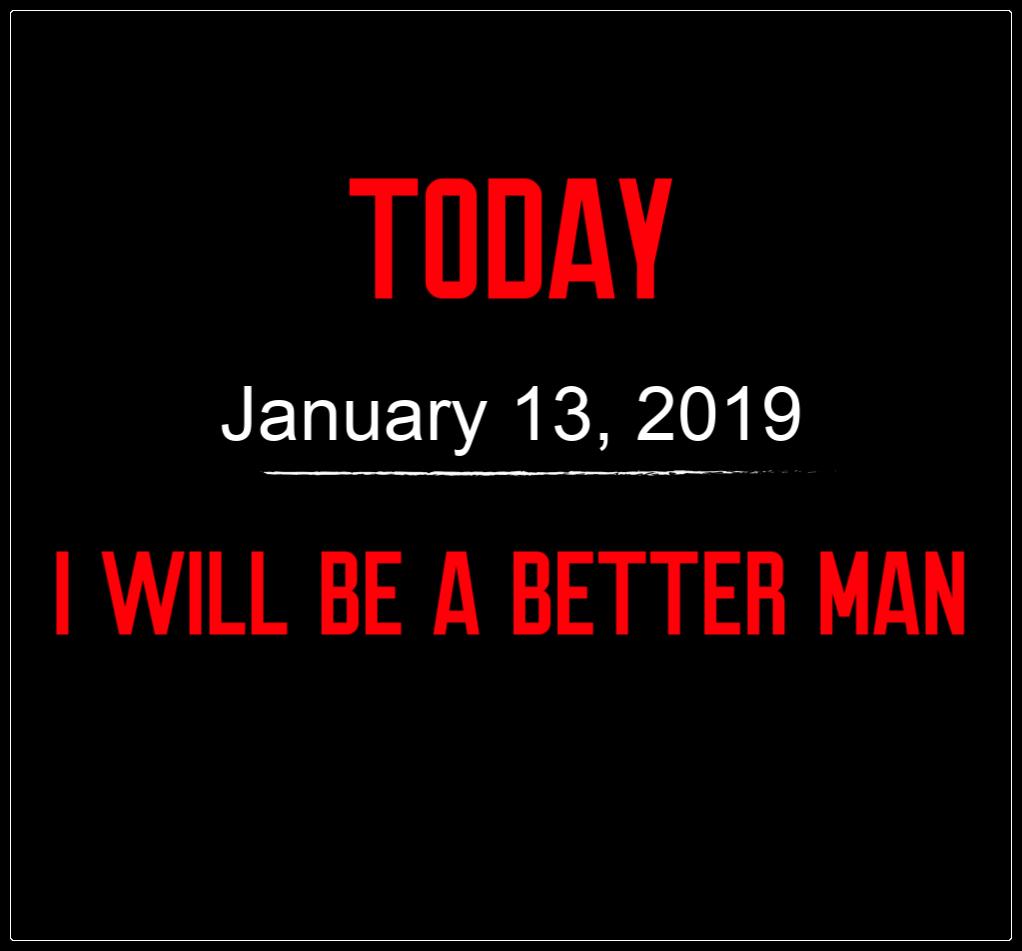 better man 1-13-19