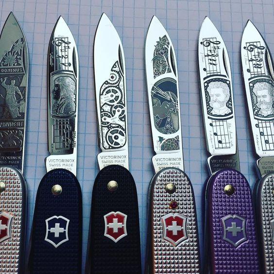 custom victorinox knives