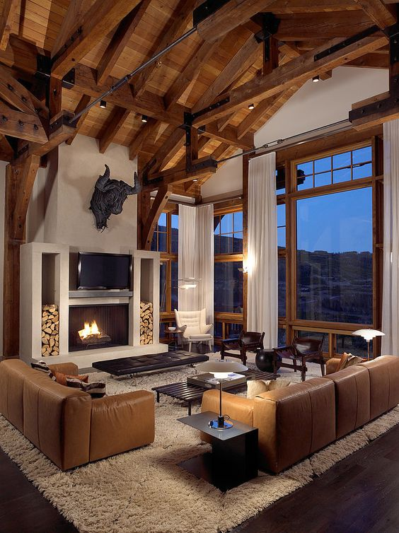 modern manly living room