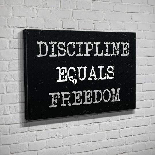 Discipline Equals Freedom CANVAS