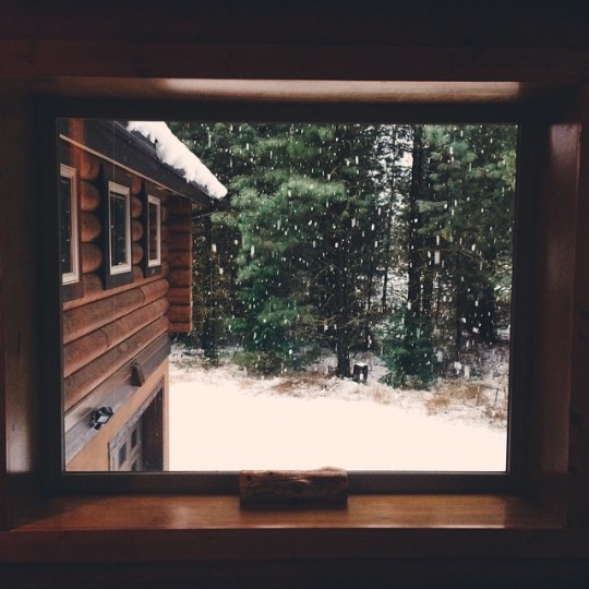 view from cabin window