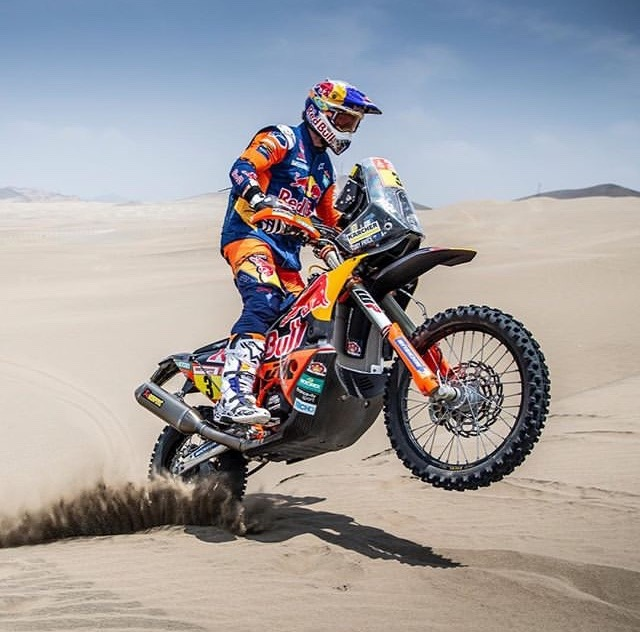 motorcycle in sand