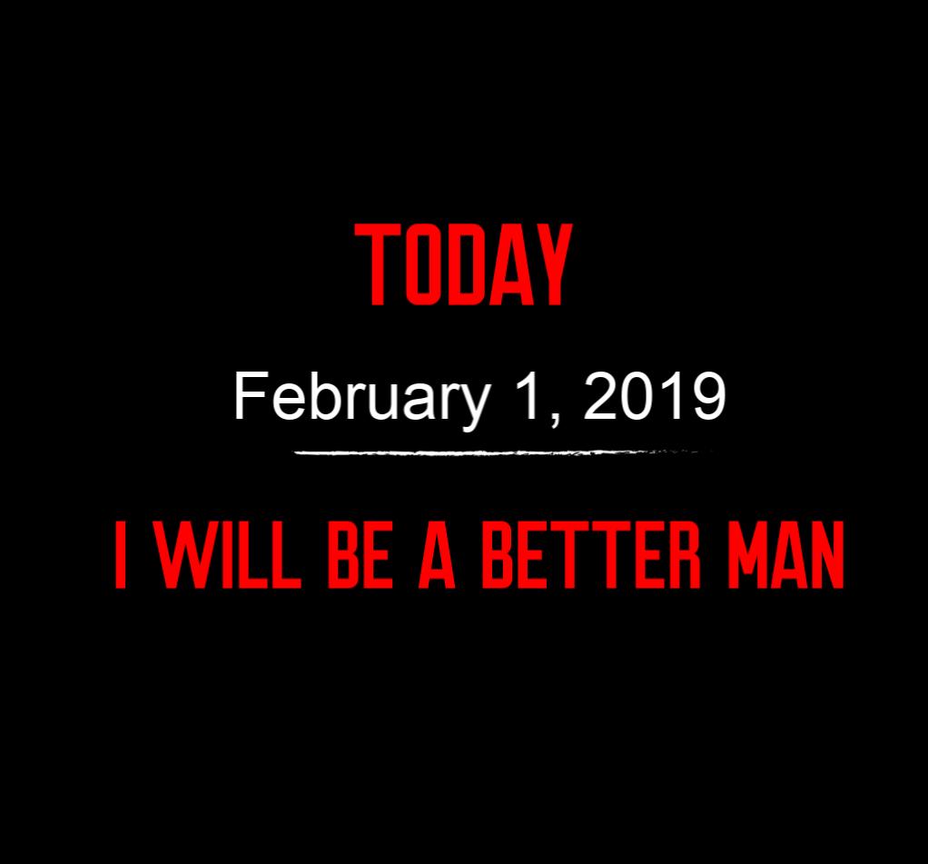 better man 2-1-19