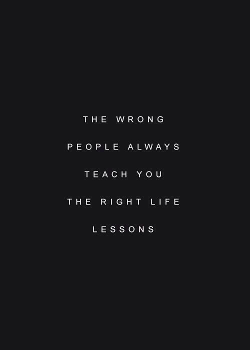 the right lessons