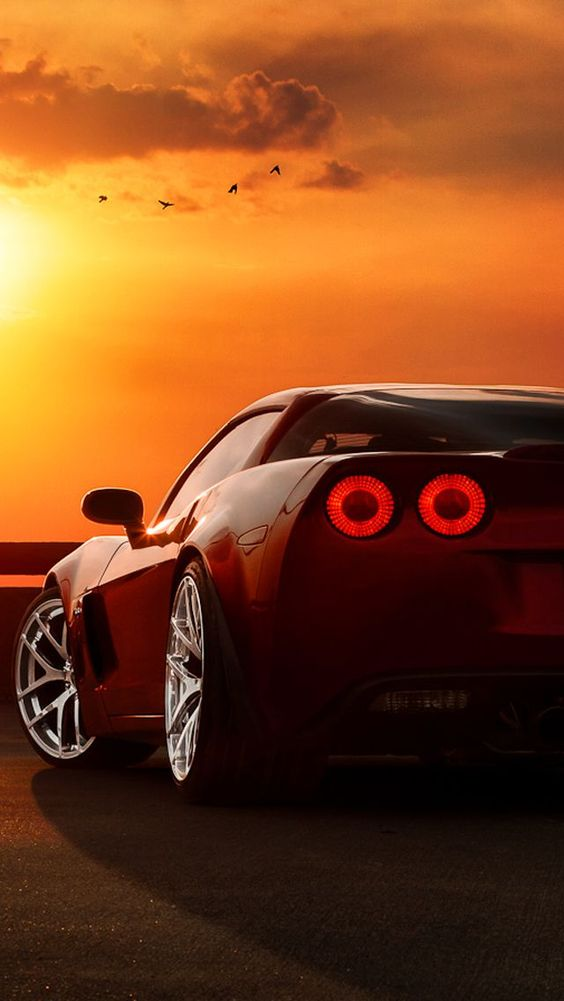 corvette sunset