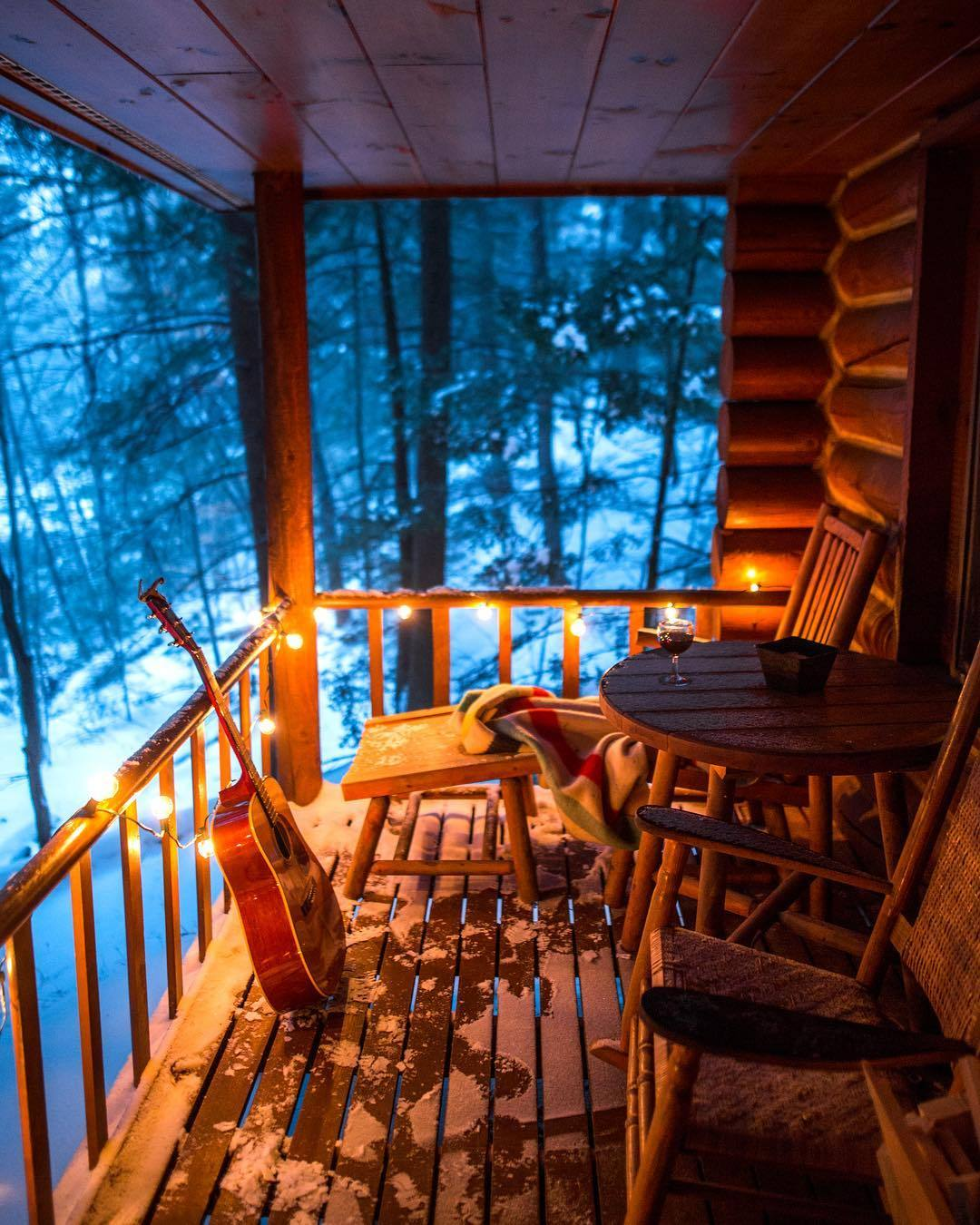 cozy cabin porch