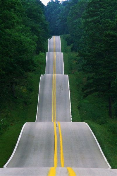 long and hilly road