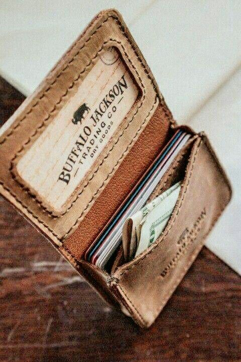 manly leather wallet