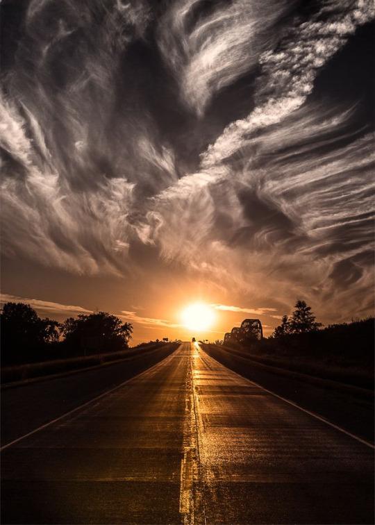 wind swept clouds