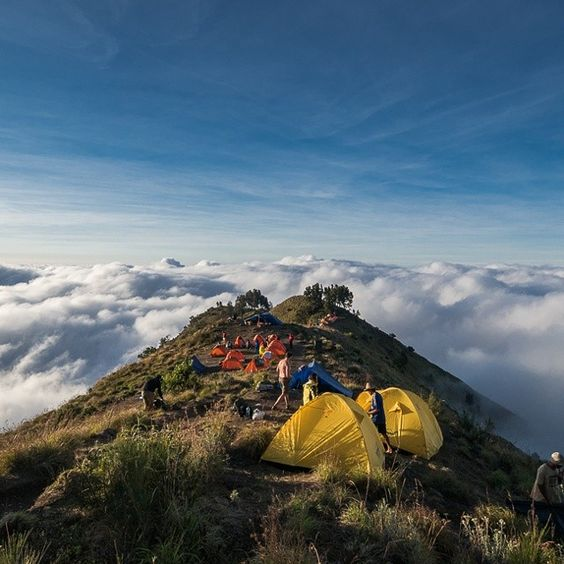 camping on the top of the world