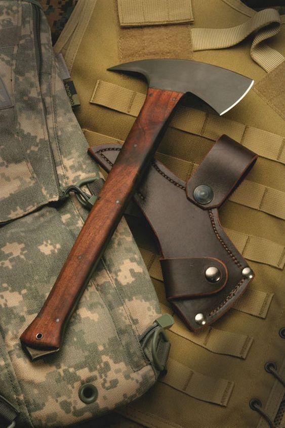 handmade axe and sheath