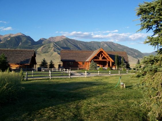 log cabin style ranch home