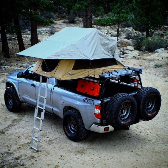 truck tent with rain fly